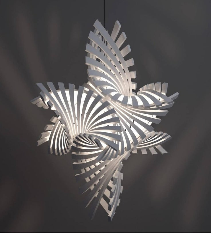 3D Printed Pendant Lighting By Grossman