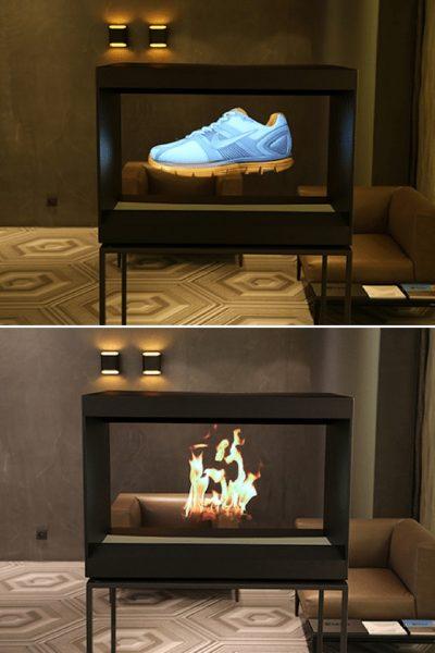 Futuristic Hologram Floor Lamp