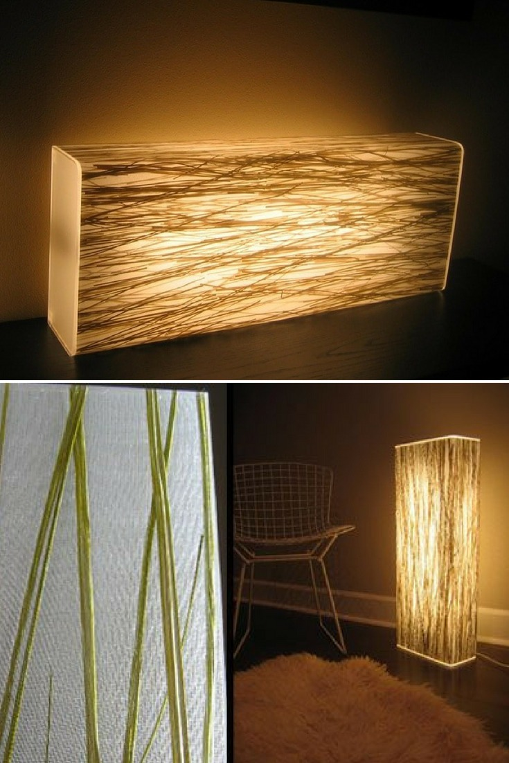 Grass Resin Floor Lamp