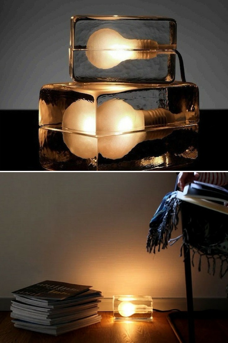 Ice and Light Table Lamps