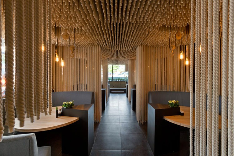 Lights and ropes by YOD Design Lab