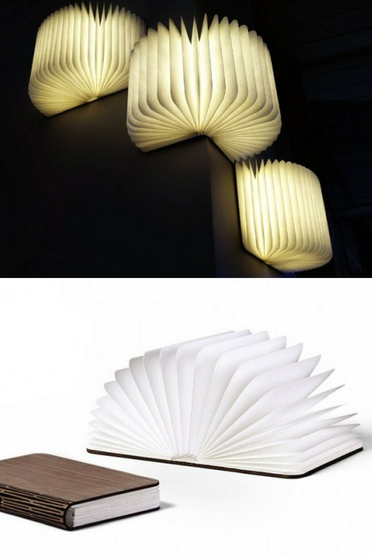 Lumio Illuminated Book as Wall Sconces