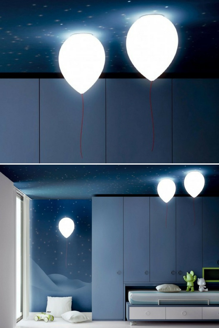 Suspension Balloon Ceiling Lights - pendant-lighting, flush-mount-lighting