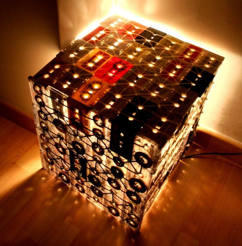 Floor Lamps Made with Recycled Cassettes - floor-lamps