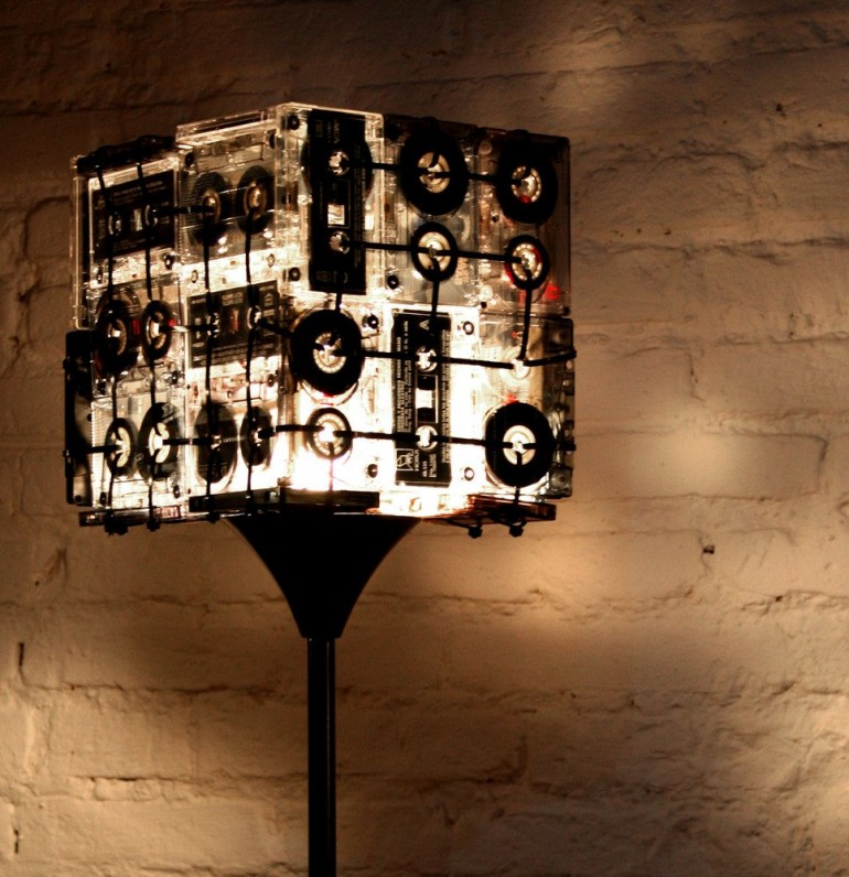 Floor Lamps Made with Recycled Cassettes Floor Lamps