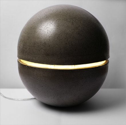 Concrete Ball Modern Floor Lamp - floor-lamps