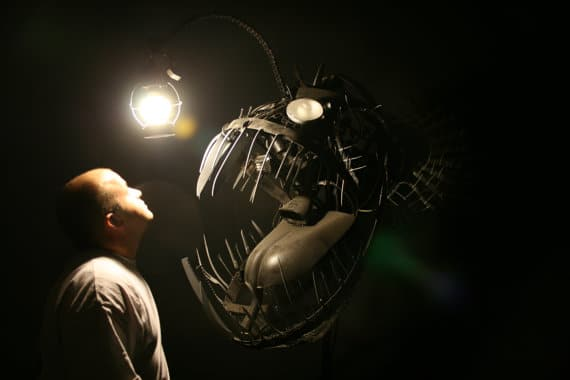 Deep Sea Angler Fish Lamp - floor-lamps