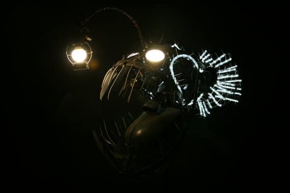 Deep Sea Angler Steampunk Fish Lamp - floor-lamps
