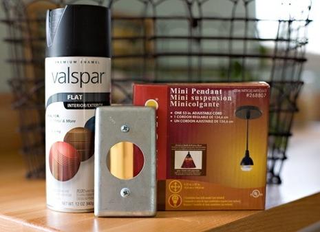 DIY Recycled Basket Lampshade Pendant Lighting