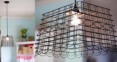 DIY Recycled Basket Lampshade Tutorial Pendant Lighting
