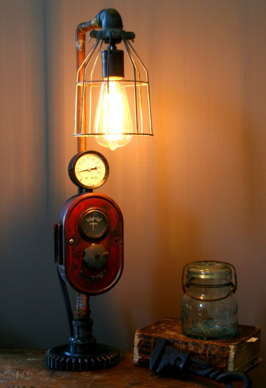 Farm Tractor Lamp : Modern farmhouse tractor industrial table lamp id lights