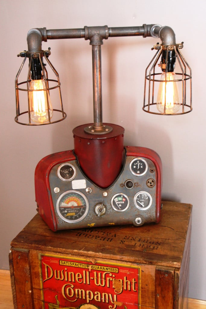 Modern Farmhouse Tractor Industrial Table Lamp - table-lamps