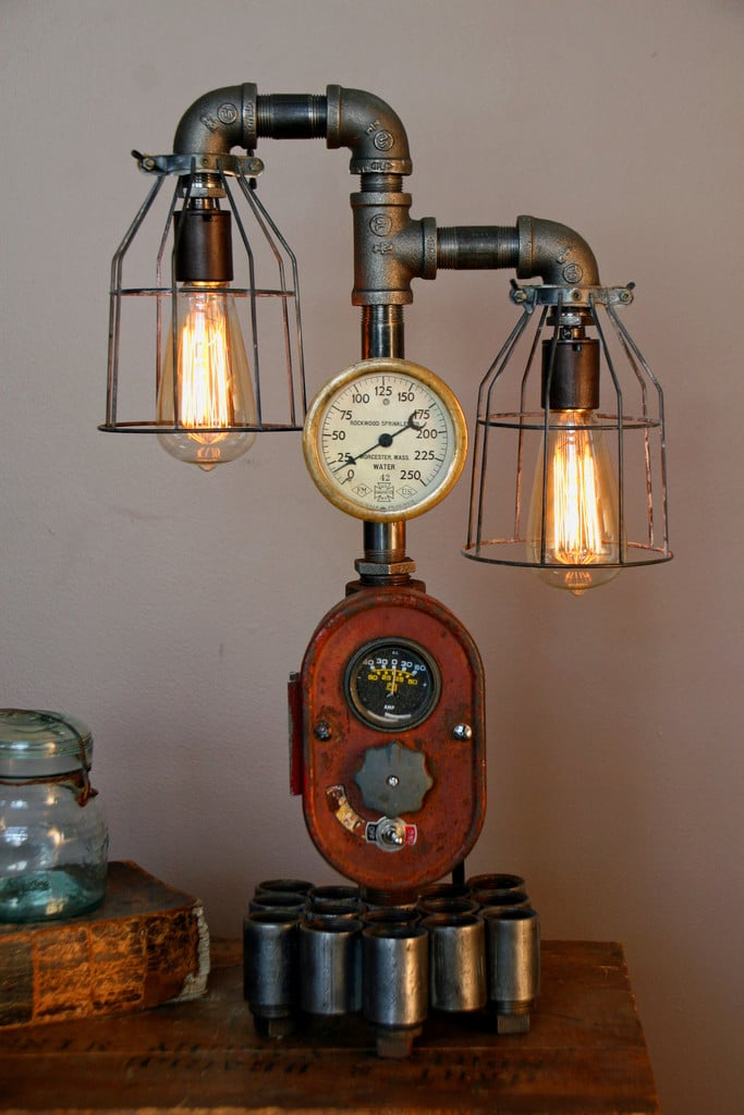 Modern Farmhouse Tractor Industrial Table Lamp
