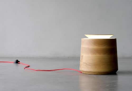 Jar Wood Table Lamp - wood-lamps, table-lamps