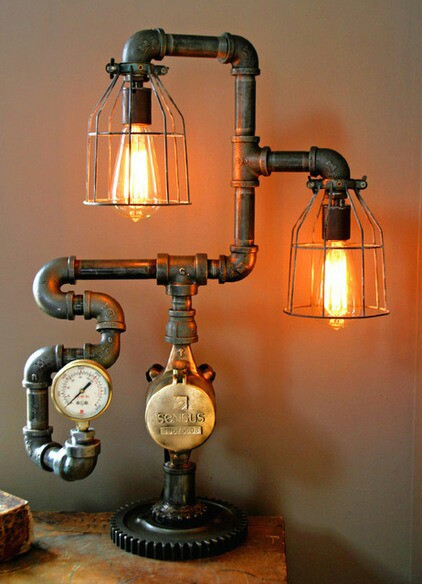 Steam Gauge Industrial Table Lamp Table Lamps