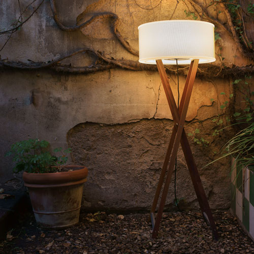Marset Cala Outdoor Wood Floor Lamp - wood-lamps, outdoor-lighting, floor-lamps