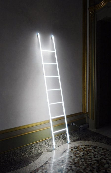 Massimo Uberti Neon Ladder Floor Lamp - floor-lamps