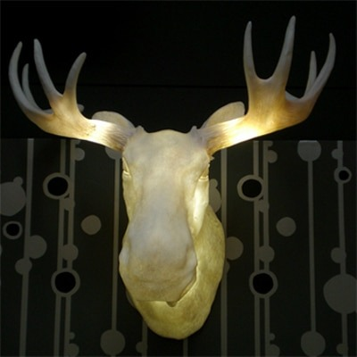 Moose Head Wall Sconce - wall-lights-sconces