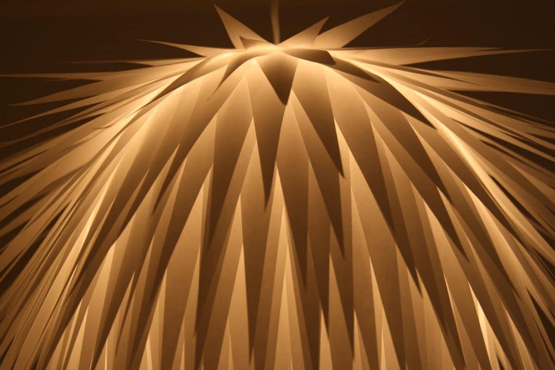 Paper Starburst Pendant Lighting   Pendant Lighting