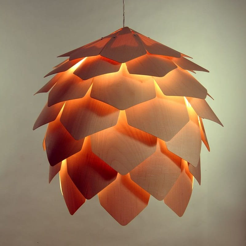 Pinecone Wood Design Pendant Lighting - wood-lamps, pendant-lighting