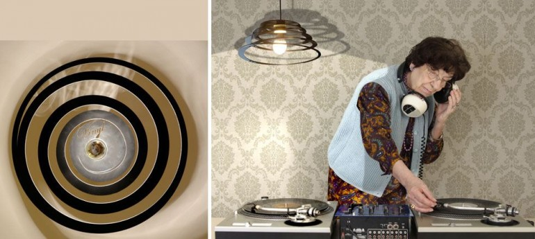 Spiral Recycled Vinyl Pendant Lighting - pendant-lighting