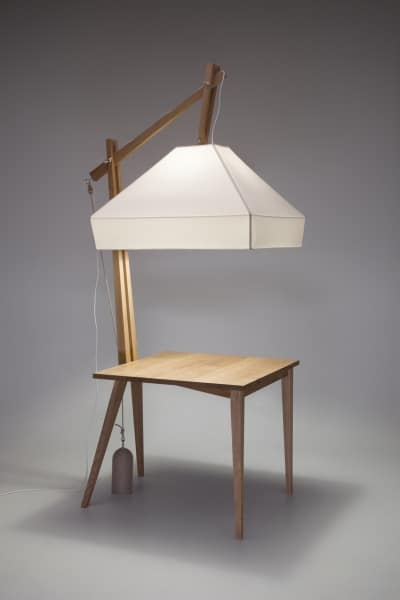 Symbiosis of Table and Lamp Table Lamps Wood Lamps