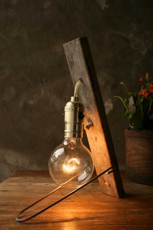 Simple Wooden Rustic Vintage Lamp   Wood Lamps, Table Lamps