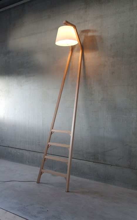 Nice huge wood lamp against the Wall - wood-lamps, wall-lights-sconces