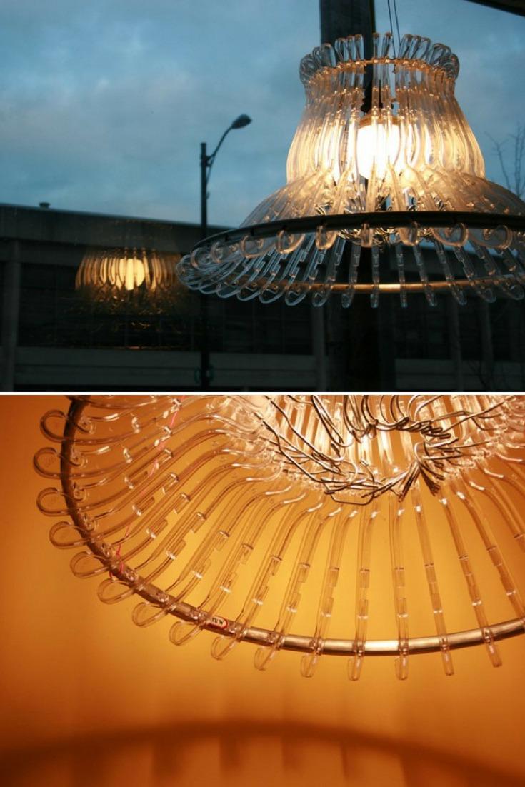 Plastic Hangers Lamp - pendant-lighting