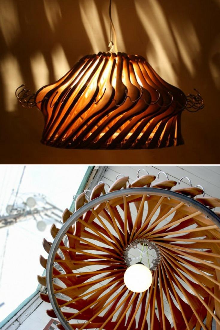 Wood Hangers Chandelier - wood-lamps, pendant-lighting
