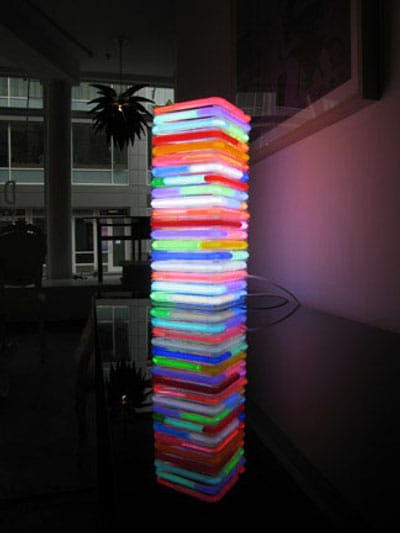 Neon Ceiling Light by Roger Borg Chandeliers