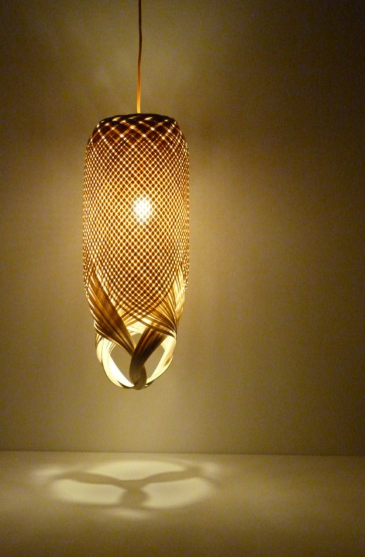 Braided Pendant Lighting - wood-lamps, pendant-lighting