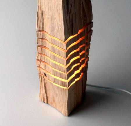 Sculptural California Cedar Wood Lamp - wood-lamps, floor-lamps