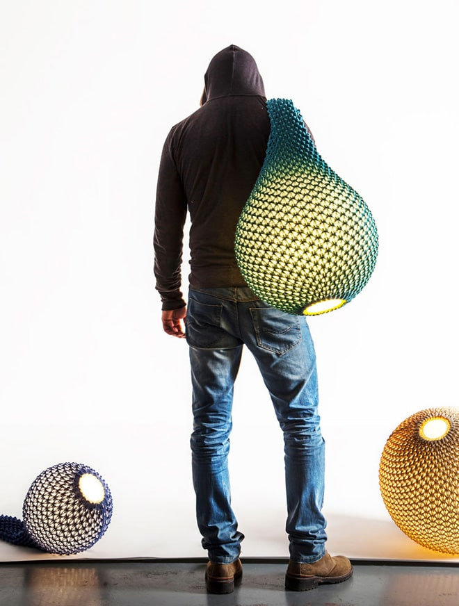 Knitted Modern Bedside Floor Lamp
