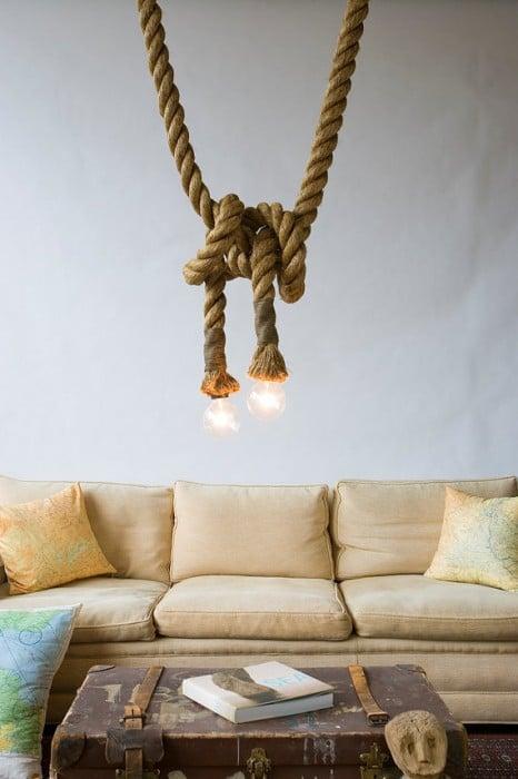 Rustic Rope Perfect Modern Farmhouse Lighting Pendant Lighting
