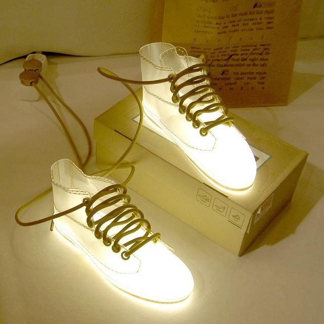 Huge LED Shoes Floor Lamp Floor Lamps