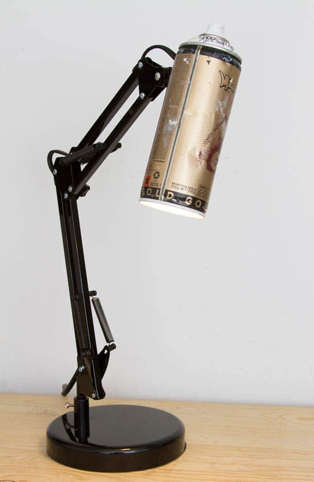 Recycled Spray Cans Into Desk Lamps Id Lights