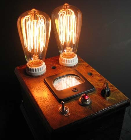 Steampunk Table Lamp One Of A Kind Id Lights