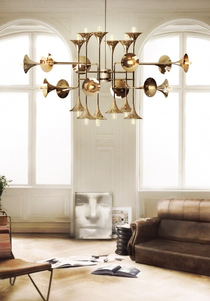 Recycled Trumpet Chandelier Chandeliers