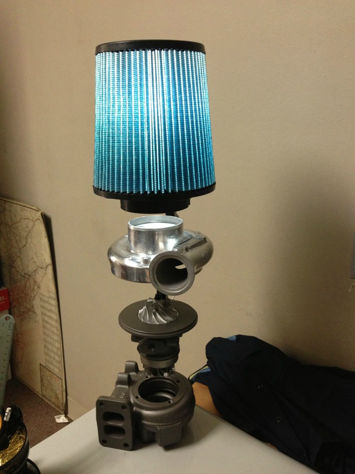 Turbocharger Industrial Table Lamp