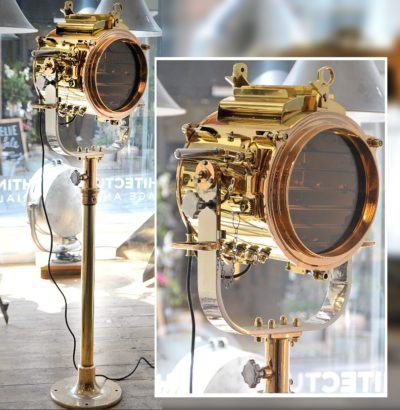vintage warship signal light