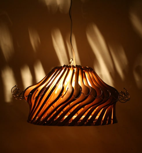 Wood Hangers Chandelier - wood-lamps, pendant-lighting