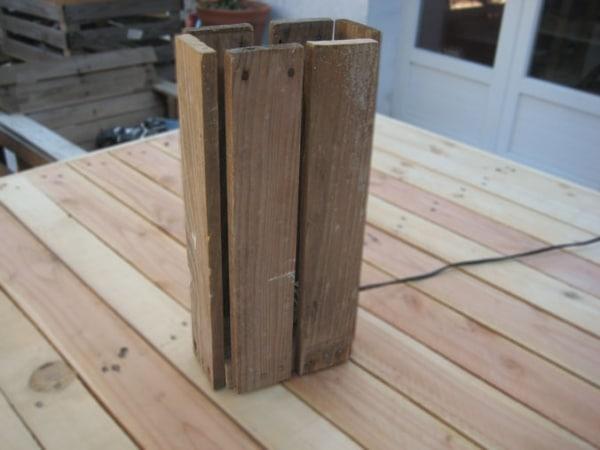 Wooden Pallet Floor Lamp Floor Lamps Wood Lamps