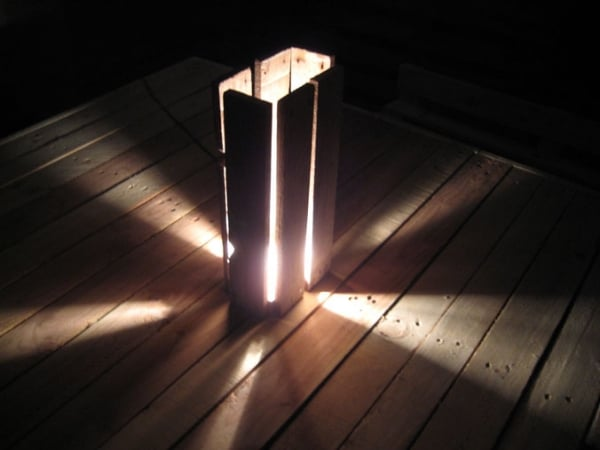 Wooden Pallet Floor Lamp - wood-lamps, floor-lamps