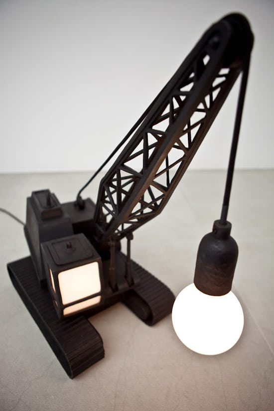 Wrecking Ball Recycled Floor Lamp
