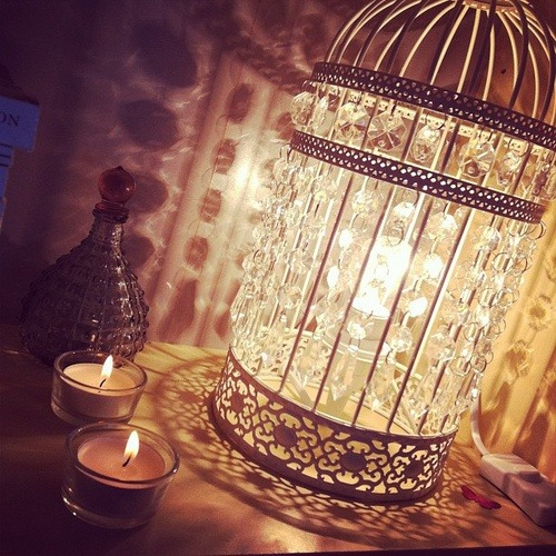 Birdcage Table Lamp - table-lamps