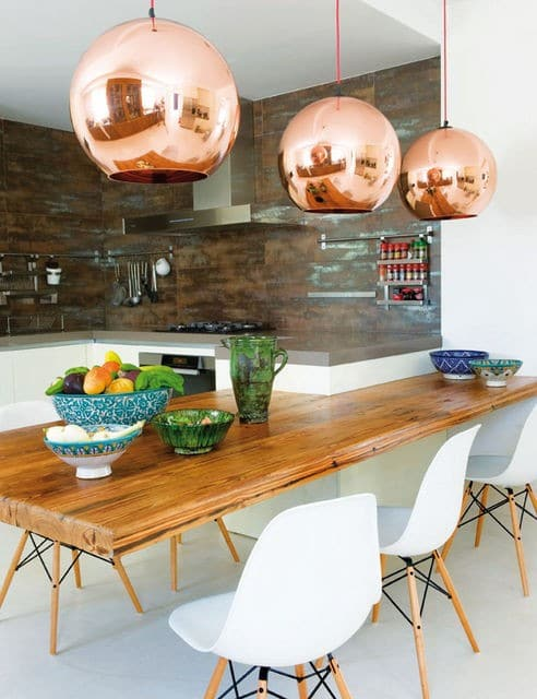 Copper Orbs Vintage Pendant Lighting - pendant-lighting