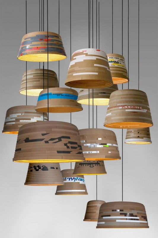 Cardboard Pendant Lighting - pendant-lighting