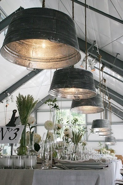 Upcycled Worn Tubs Pendant Lighting - pendant-lighting