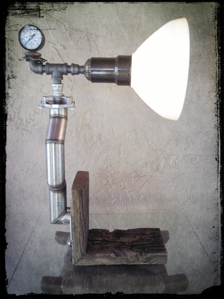 Recycled Stainless Steel DIY Pipe Lamp - desk-lamps